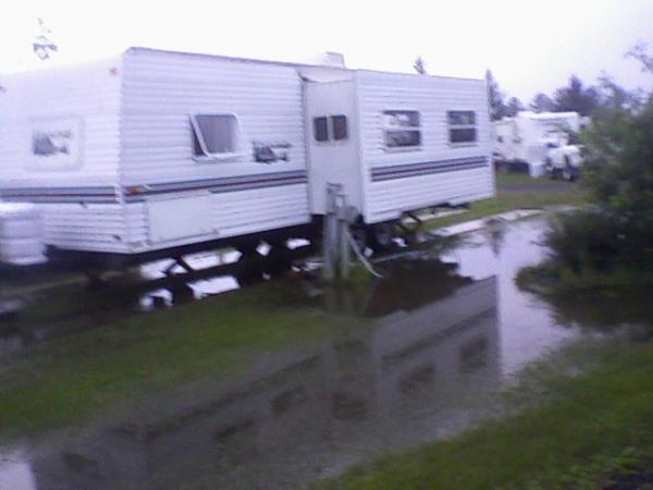 My old trailer after a rain 06 24 10 Superior, WI