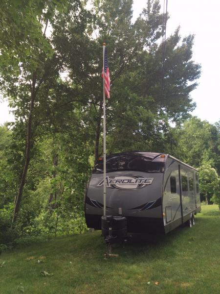 20' collapsable flagpole.