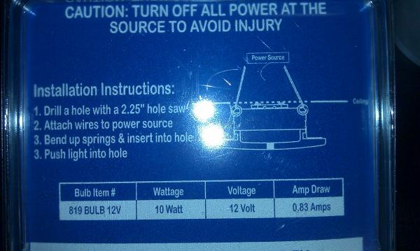 Ceiling puck light package info