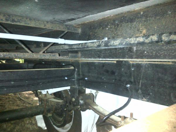 Conduit for new brake wiring.