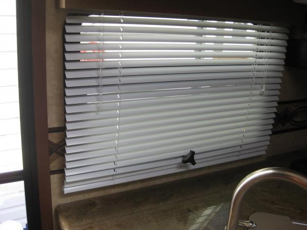 """RV Window fix 002 1 Used Extender (1"""") to extend window crank so it would not interfere with the venetian blind.  Purchased locally at an RV dealer"""
