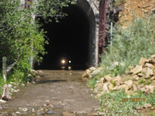 Exiting Wickes Tunnel in MT