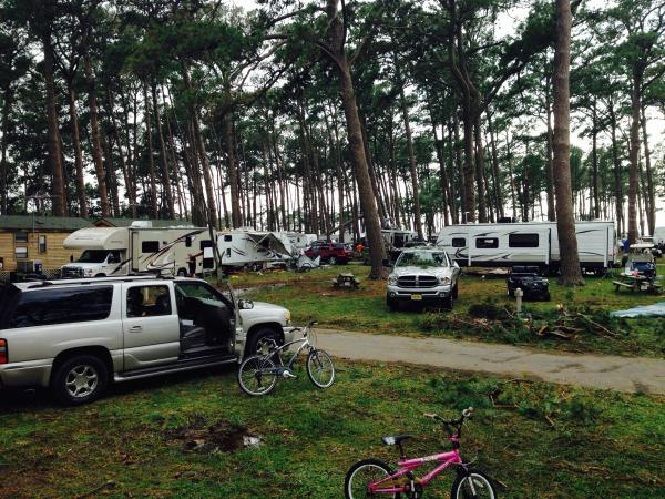 View from our camper.  Our area was not hit as bad as other areas in the campground.