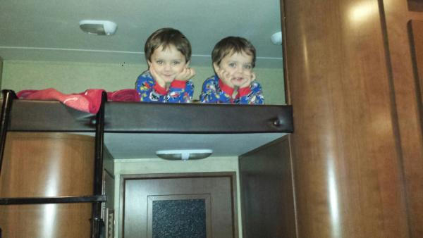 Twin 3 yr old grandson's