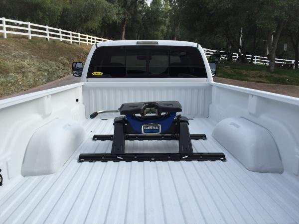My new hitch and white sprayed bedliner
