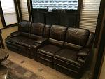 Traded out the vertical RV furniture for heated recliners