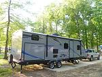 Camping with nature in our 250KBHS.  3 rear bunks and king bed.