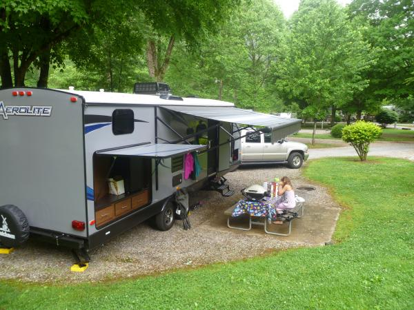 Love the campgrounds. Outdoor kitchen was very handy, especially with the bar fridge.