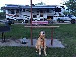 Campsite at El Dorado State Park KS