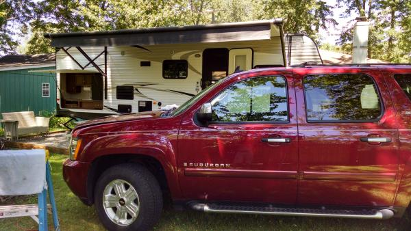 Last year pic...cold beer in the frig, tunes playing & cleaning my ride, was a beautiful day!