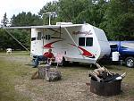 2016 Swan Lake Vacation near Virginia, MN in Northern Minnesota's Iron Range. Camped out in 2008 CruiserRV Xtra Xt190 Toy Hauler