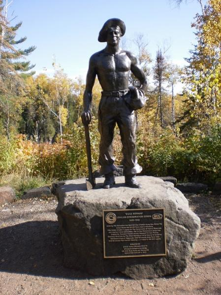CCC Statue in Northern Minnesota as a Tribute to the young men of the CCC