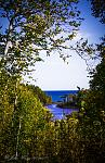 Temperance River, looking from Falls to Lake Superior 600